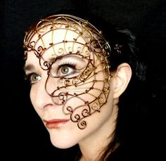 Hey, I found this really awesome Etsy listing at https://www.etsy.com/listing/124890230/womens-bronze-and-brass-wire-steampunk