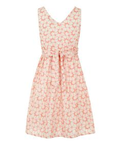 Love this Coral Floral Fit & Flare Dress on #zulily! #zulilyfinds