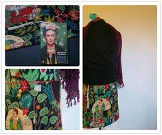 rokje uit frida kahlo stof van robert kaufman, frida kahlo skirt