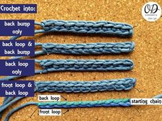 Learn to Crochet: Different Ways to Work Into the Starting Chain • Oombawka Design Crochet