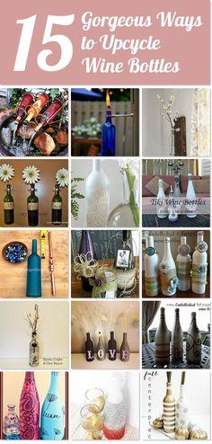 Hier werden 15 tolle Ideen gezeigt, was man alles aus nicht mehr vollen Weinflaschen machen können. Einfach top :)
