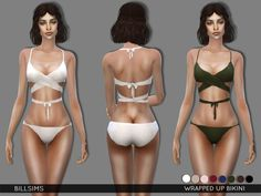 The Sims Resource: Wrapped Up swuimsuit by Bill Sims • Sims 4 Downloads