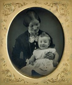 6th Plate Daguerreotype of Smiling Mother & Child - Id'd sitters in full case | eBay