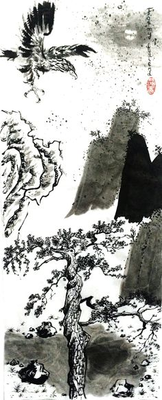 Memories, December 2016 Beijing Chinese ink on rice paper 60 cm x 21 cm European Paintings, Cecile, Fashion Painting, Rice Paper, Beijing, December, Chinese, Memories, Ink