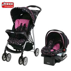 Graco LiteRider Click Connect Stroller Travel System Infant Car Seat Priscilla | Baby, Strollers & Accessories, Strollers | eBay!