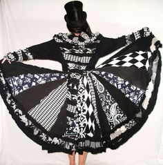 Black & White Elf Coat