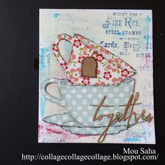 Sizzix Inspiration | Tea Cups Card by Mou Saha