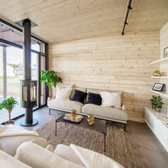 Outdoor Sofa, Outdoor Furniture, Outdoor Decor, Small House Plans, Scandinavian Style, Home Living Room, Beach House, Glass Houses, Patio