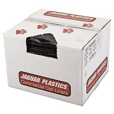 Jaguar Plastics R4046HH Repro LowDensity Can Liners 40 x 46 Black Case of 100 ** Be sure to check out this awesome product.