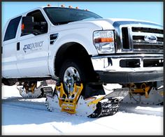 In development by AD Boivin, the Track N Go is a wheel-driven track system, that turns trucks and SUVs into gigantic all-conquering snowmobiles without expensive – or ugly – conversions.