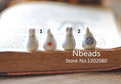 White Porcelain Bunny beads, Ceramic Rabbit Drilled with Hole, Red Blue, FREE SHIPPING! (#80135) 20 beads/ Lot(China (Mainland))