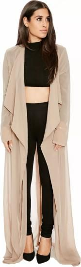 Naked Wardrobe the Long Nw Trench in Caramel as seen on Chrissy Teigen