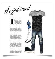 A menswear look from December 2016 featuring men's pocket polo shirts, mens distressed jeans and mens diamond chain. Browse and shop related looks. Jean Paul Gaultier, Boohoo, Men's Fashion, Converse, Menswear, Sweatpants, God, Polyvore, Stuff To Buy