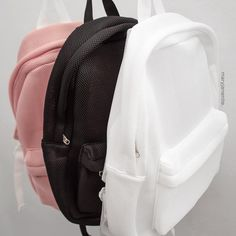 """MESH BACKPACK 3colors at www.maryjanenite.co ✨"""