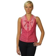 599fashion Sleeveless button down sailor style top w/decorative front tie bow -id.22810 599fashion. $5.99
