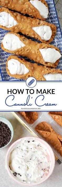 How to make the best homemade cannoli cream!