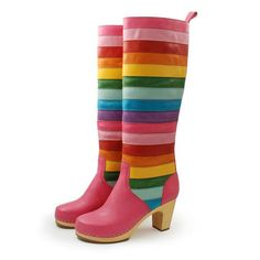 Striped Knee High Boot II {Rainbow Brite Style}
