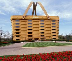 How many people get to say they wake up each morning and head to work in a giant basket? Five hundred, to be exact. The Longaberger Basket Company's seven-story corporate headquarters is a brick-and-mortar replica of the company's popular Medium Market Basket—just 160 times longer, wider and taller. The building's basket handles are heated to prevent ice from forming in the winter.