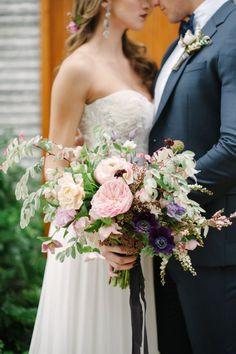 Romantic moody hued wedding bouquet via Katie Lopez - Deer Pearl Flowers / http://www.deerpearlflowers.com/wedding-bouquet-inspiration/romantic-moody-hued-wedding-bouquet-via-katie-lopez/