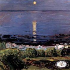 Edvard Munch, Sommer ved stranden (Summer Night by the Beach), 1902-03.