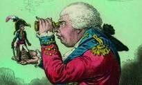 Karikatur: The King of Brobdingnag and Gulliver 1803