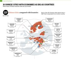Chinese cities compared with European countries. Source: http://www.visualcapitalist.com
