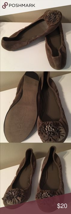 B. Makowsky suede flats Gently worn suede B. Makowsky shoes. Comfortable casual ballerina style shoe with floral accent. b. makowsky Shoes Flats & Loafers