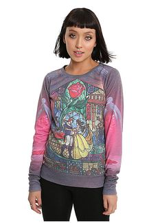 Hot Topic : Disney Beauty And The Beast Stained Glass Girls Pullover Top