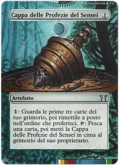 Sensei's Divining Top, Artwork: GuruLand Forest Magic: The Gathering cards Altered Art