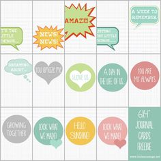 """Free Say What?! Filler Cards from Sj""""s Little Musings"""