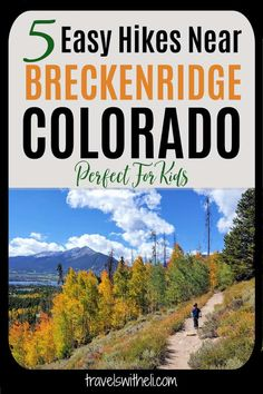 Planning a summer vacation to Breckenridge with kids or just looking for easy hikes in Breckenridge? Here are five easy Breckenridge hikes that you will absolutely love. You will want to add one of these hikes in Breckenridge to your Colorado summer vacation itinerary. #breckenridgecoloradosummer #hikesneardenver #travelswitheli Hikes Near Denver, Lake Dillon, Road Trip Planner, Breckenridge Colorado, Evergreen Forest, Hiking With Kids, Camping Places, Summer Travel, Vacation