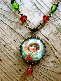 victorian christmas necklace.