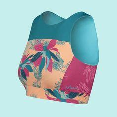 Inspired by every active woman's best friend- a classic sports bra, active swim bikini top. Surf Wear, Swim Top, Fun Prints, Amazing Women, Bikini Tops, Bikinis, Swimwear, Eco Friendly, Surfing