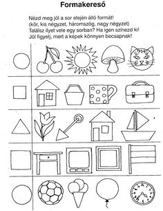 matek feladatlapok óvodásoknak - Google keresés Kindergarten Assessment, Kindergarten Activities, Activities For Kids, Free Preschool, Preschool Worksheets, Triangle Drawing, Prewriting Skills, Shapes Worksheets, Coloring For Kids