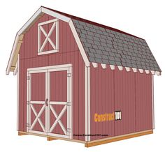 Free shed plans include gable, gambrel, lean to, small and big sheds. These sheds can be used for storage or in the garden. Free how to build a shed guide.