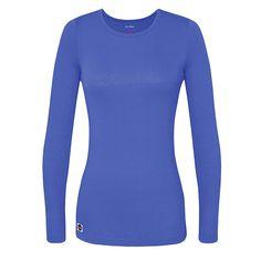 b756d780f68 Sivvan Women's Comfort Long Sleeve T-Shirt/Underscrub Tee - S8500 - Ceil  Blue