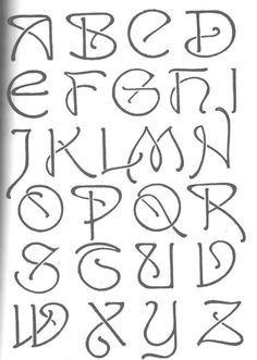 art nouveau full alphabet - Google Search                                                                                                                                                                                 More