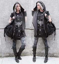 Shop for trendy swimwear, clothing and accessories for women at affordable prices Mode Outfits, Trendy Outfits, Fashion Outfits, Fashion Ideas, Mori Fashion, Gothic Fashion, Alternative Outfits, Alternative Fashion, Post Apocalyptic Fashion