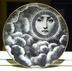 "Fornasetti ""Julia"" plate by Rosenthal; Motiv 18; Tema e variazioni; Gold rim"