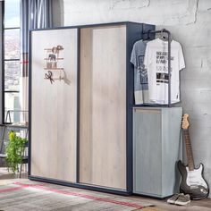 A solidly simple 2 door wardrobe that reflects his unique style. Create a teen bedroom d?cor infused with trendy flair with our modern boys wardrobe.