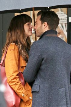 Action! Dakota Johnson and Jamie Dornan Share a Hot Kiss in the Rain While Shooting Fifty Shades Darker  Dakota Johnson, Jamie Dornan