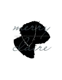 Hand-cut pet silhouettes...because dogs are people too!