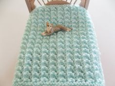 Light Green Hand Knit Lacy Miniature Doll House by DelsYarnBasket, $6.50