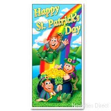 Happy St Patrick's Day Door Cover. A vivid decoration to wish a happy St. Patrick's Day. http://www.novelties-direct.co.uk/Happy-St-Patrick-s-Day-Door-Cover.html