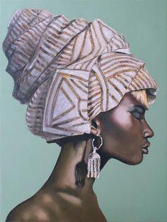 Black Girl Art, Black Women Art, Black Art, Art Girl, African Girl, African American Art, African Women, African Art Paintings, Africa Art
