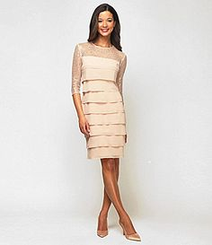 Alex Evenings Illusion Tiered Dress #Dillards - trying to find a dress for the wedding.