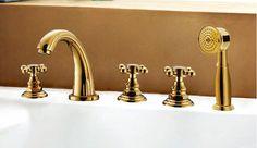 Alibaba グループ | AliExpress.comの バス & シャワー水栓 からの 1.材料:蛇口の耐久性に依存し、 その材質. 低品質の蛇口真鍮が簡単に錆に, 水の損傷や悪化. 私たちの蛇口は高いから作られた- 純度固体真鍮( h59真鍮), 着実な物理的特性を持っているとの可能性を最小限に腐食や錆発生から.2.クラフト 中の 2015 ファッション高品質真鍮金メッキ浴室広範な浴槽の蛇口
