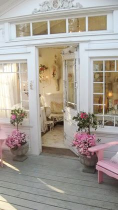 Inviting Pink Porch