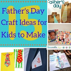 15 Fathers Day Crafts for Kids to Make for Their #1 Man