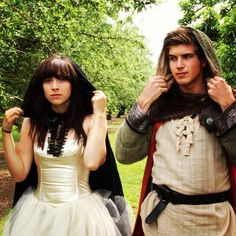 Meghan and Joey in their costumes for their Anna Sun music video :D